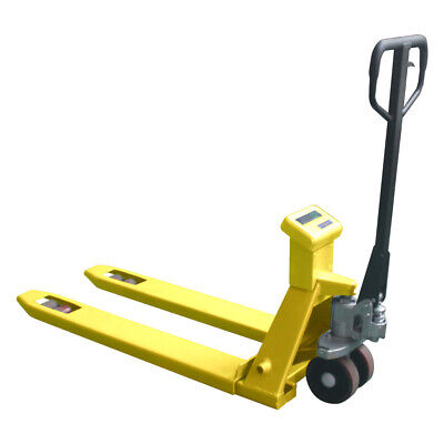 Manual Pallet Jack Truck W Scale 4400lbs Capacity 27 W X 45 L Fork