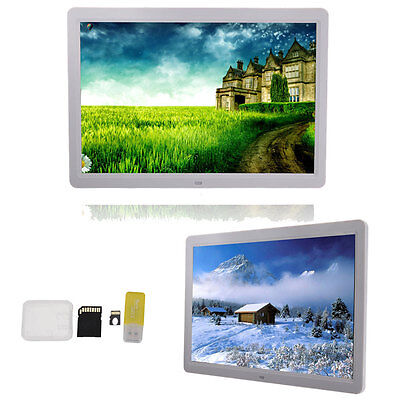 """New 15"""" Inch Digital Photo Frame Picture LED Media Movie Player +  8GB TF Card"""