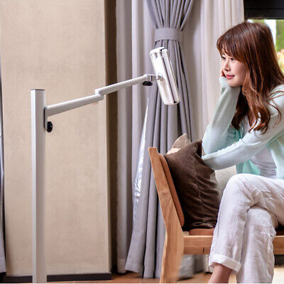 """360º Height adjustable Cell Phones & ipad Pro /tablet(7-13"""") stand for floor/bed"""