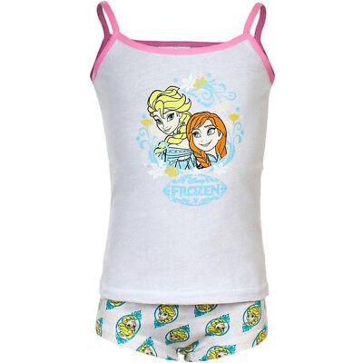 New Girls Disney Frozen Elsa and Anna Vest + Pants Set underwear Age 4-5 years