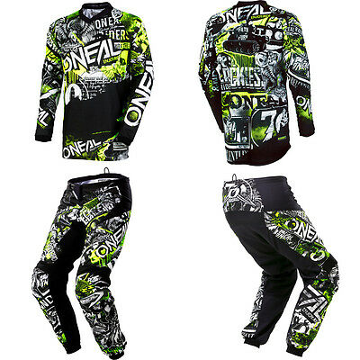 Oneal Element Attack Motocross Dirtbike Off Road Mx Gear   Jersey Pants Combo