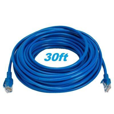 30FT 30′ FT RJ45 CAT6 CAT 6 PATCH ETHERNET LAN NETWORK BLUE CABLE Computer Cables & Connectors