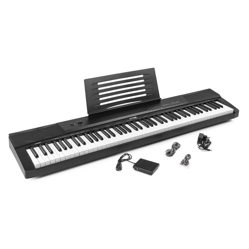 B-Stock Max KB6 Digital Piano 88 Key Electronic Keyboard and Sustain Pedal USB