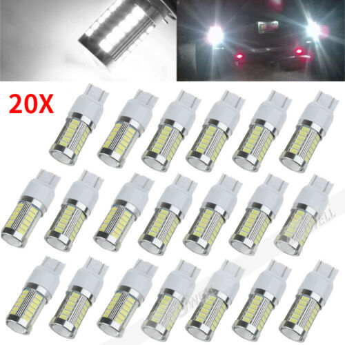 2x T20 7443 Dome Map Car Backup Reverse Light  Bulb Signal 5630 33SMD LED 6000K