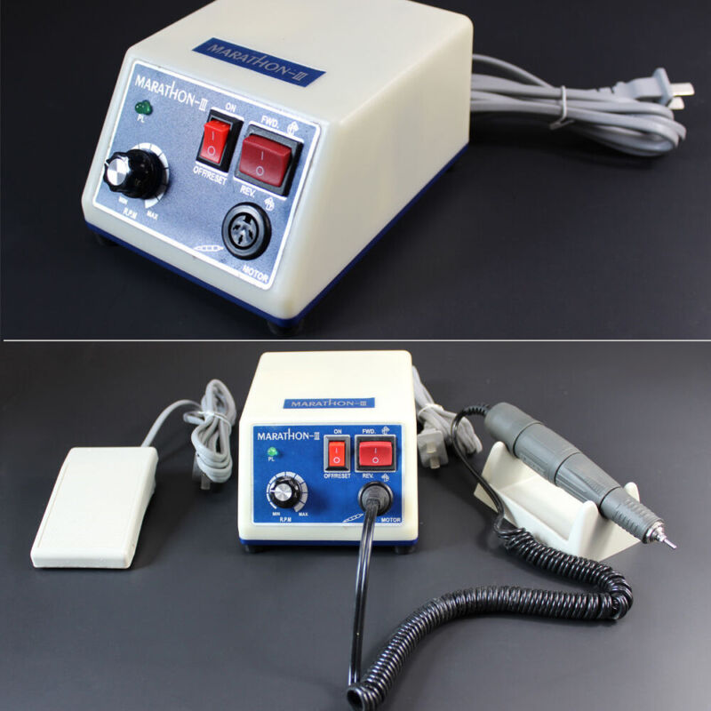 Portable Dental Lab Marathon Electric Micromotor+Polishing Handpiece 35,000 RPM