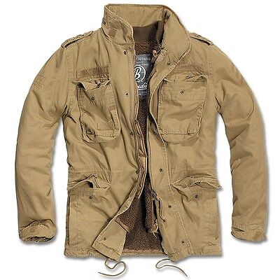 (Brandit - M65 Giant Field jacket Camel Parka US Style Jacket with lining)