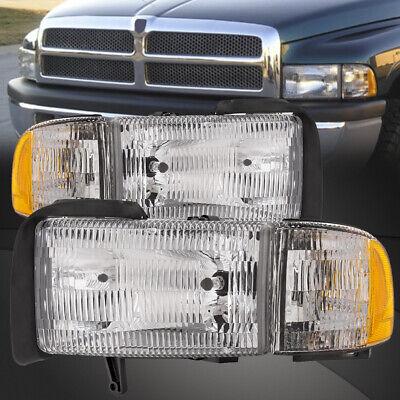 Fits 94-01 Dodge Ram Pickup 1500 2500 3500 Headlights and Corner Lights