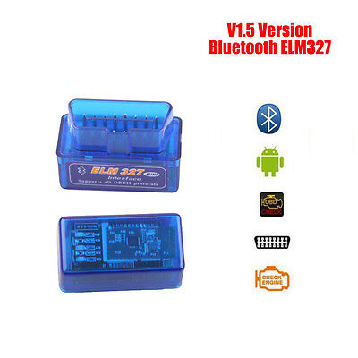ELM327 OBD2 V1.5 Bluetooth Car Diagnostic Scanner Android Torque Auto Scans Tool