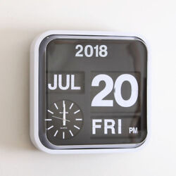 Fartech Retro Modern 17 Calendar Auto Flip Desk Wall Clock