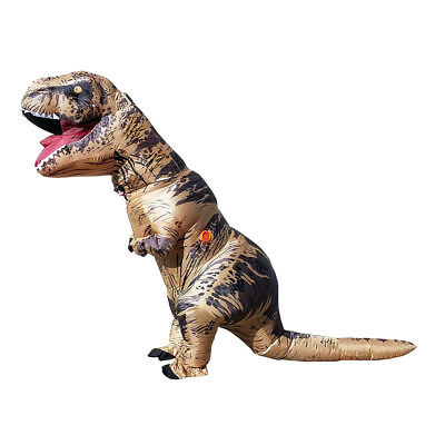New  Inflatable Adult Jurassic T Rex Dinosaur Costume   New Safe Open Design