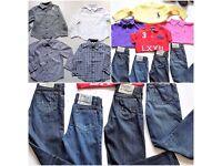 BOYS DESIGNER CLOTHES ARMANI RALPH LAUREN D&G BURBERRY GUCCI AGE 2-3-4-5-6-7-8 (PLEASE READ)