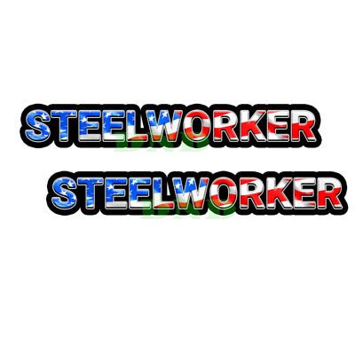 Steelworker Us Flag Lunch Box Hard Hat Tool Box Usa Helmet Sticker 2 Pack 9 Inch