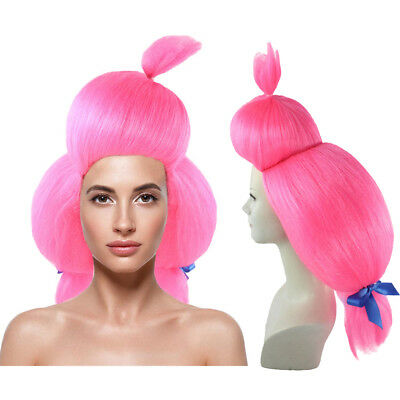 Circus Sweetie Berry Bubble Clown Wig Pink Costume Accessory Pigtails HW-1974 (Pink Pigtail Wig)