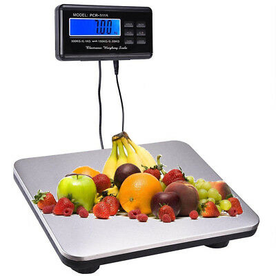 660lbs 37 Lcd Ac Digital Floor Bench Scale Postal Platform High Precision New