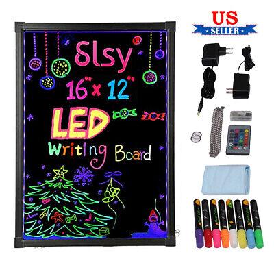 Led Illuminate Writing Board Tempered Glass Flashing Erasable Message Menu Board