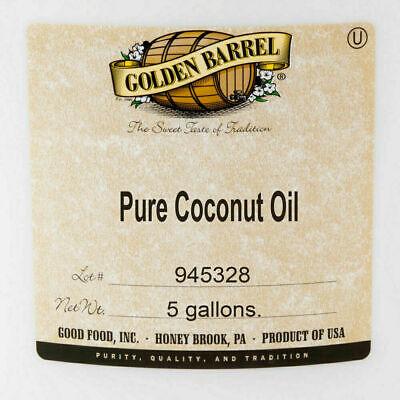 5 Gallon Buckets Bulk (Pure Coconut Oil 5 Gallon Pail Commercial 38 Lb Bucket Bulk Fry Cooking Bake)