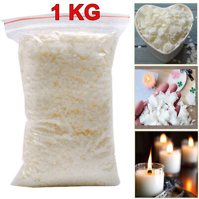 Wax Soy 1kg Soya Flakes 100 Pure clean Burning  Candle Making 5kg No Soot UKES