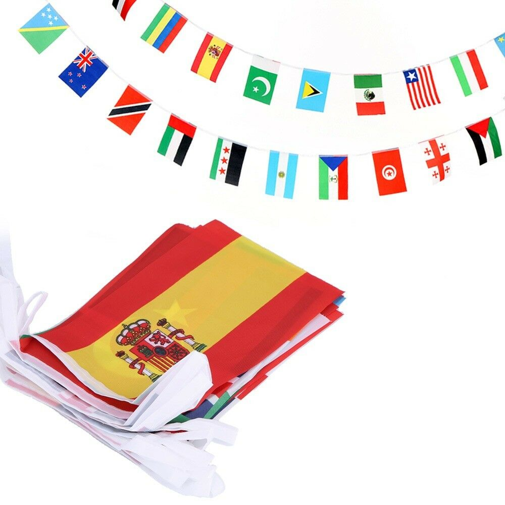 100 countries string flag international bunting pennant