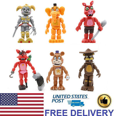 6 PCS Five Night At Freddy's Foxy Bobbie FNAF Action Figure Gift Cake Topper Toy](Foxy Kids)