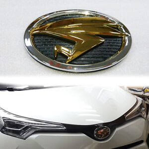 For OEM JDM TOYOTA HARRIER SILVER+GOLD EAGLE EMBLEM FOR CHR C-HR SUV 2018