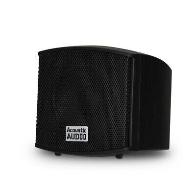Acoustic Audio AA321B Indoor Mount Black Speakers 3200W 8 Pair Pack AA321B-8Pr - $259.88