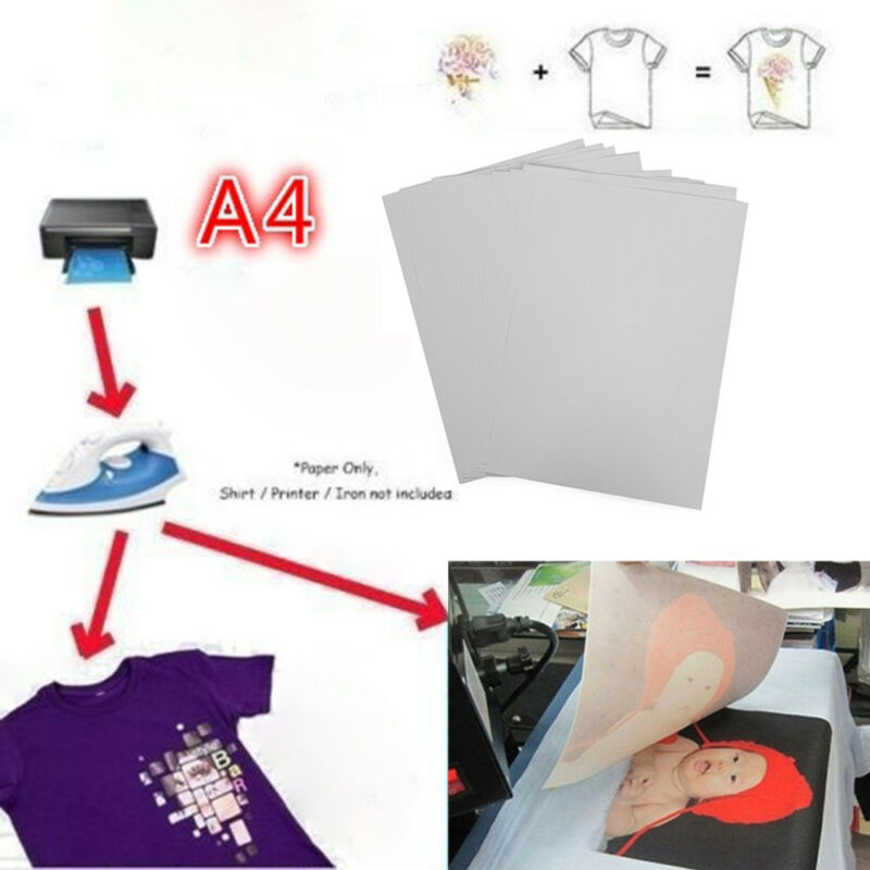 10X A4 Heat Transfer Paper for Light Fabric Cloth T-Shirt Painting Iron-On Paper
