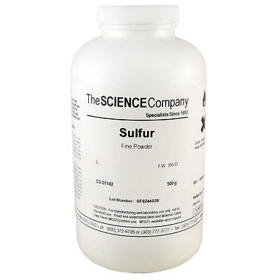 Nc-0981 Sulfur Powder 500g Sulphur