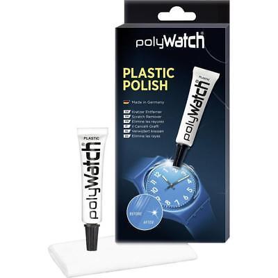 Kit 1 tube Polywatch et 1 chiffon pour verre de montre plexi