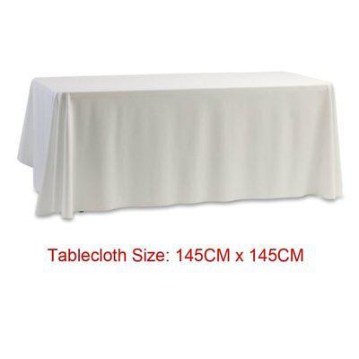 Table Satin Covers Reception Desk Long 145CM Banquet Tablecloth Suitable