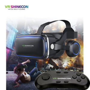 3D VR Headset Glasses 360° Goggles Virtual Reality Mobile Phone + Remote Control