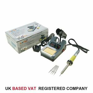 KATSU 48W Variable Temperature Soldering Station Iron Electronic W/ Extra Tips