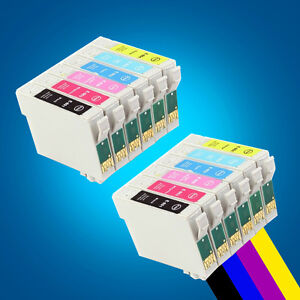 2 Set Ink Cartridge Replace for Epson R285 R360 RX560 RX585 RX685 PX650W PX660 2