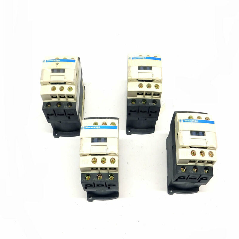 (Lot of 4) Telemecanique LC1D09-BL 3-Pole 25A Magnetic Contactors 600V