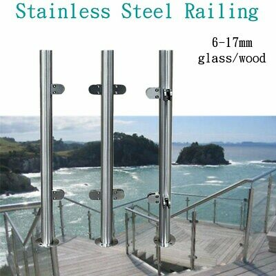 Stainless Steel Railing Balustrade Balcony Handrail Fence System Railing -