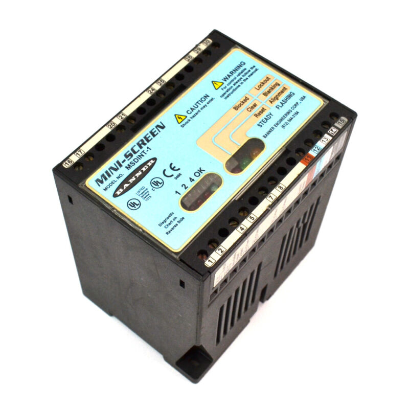 Banner Engineering MSDINT-1 24VDC 1.5A MINI-SCREEN Light Curtain Controller
