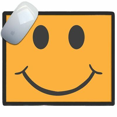 Orange Smiley - Thin Pictoral Plastic Mouse Pad Mat Badgebeast
