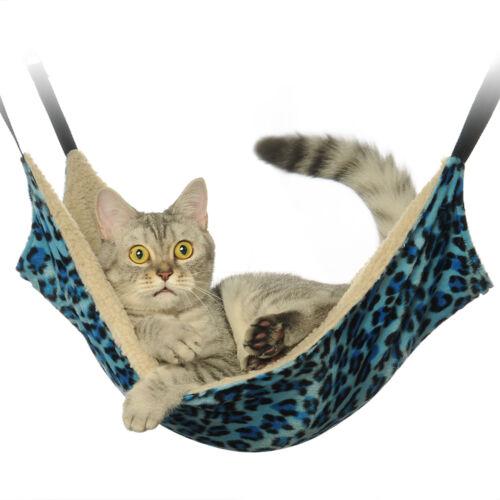 Pet Car Hammock >> Cat Hammock LARGE Leopard Fur Bed Animal Hanging Cat Cage ...