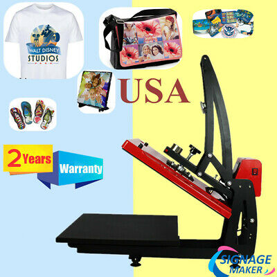 Us Stock - 110v 16 X 20 Auto Open T-shirt Heat Press Transfer Printing Machine