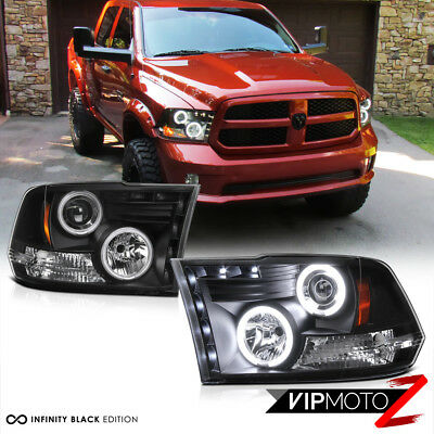 09-18 Dodge RAM 1500 2500 3500 CCFL Halo Angel Eye LED Projector Headlight PAIR