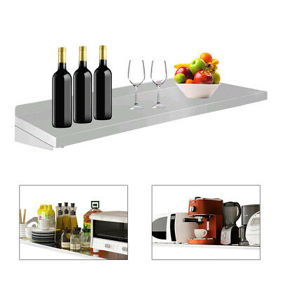 1.2m Commercialhome Stainless Steel Wall-mounted Rack Kitchen Serving Shelf Us