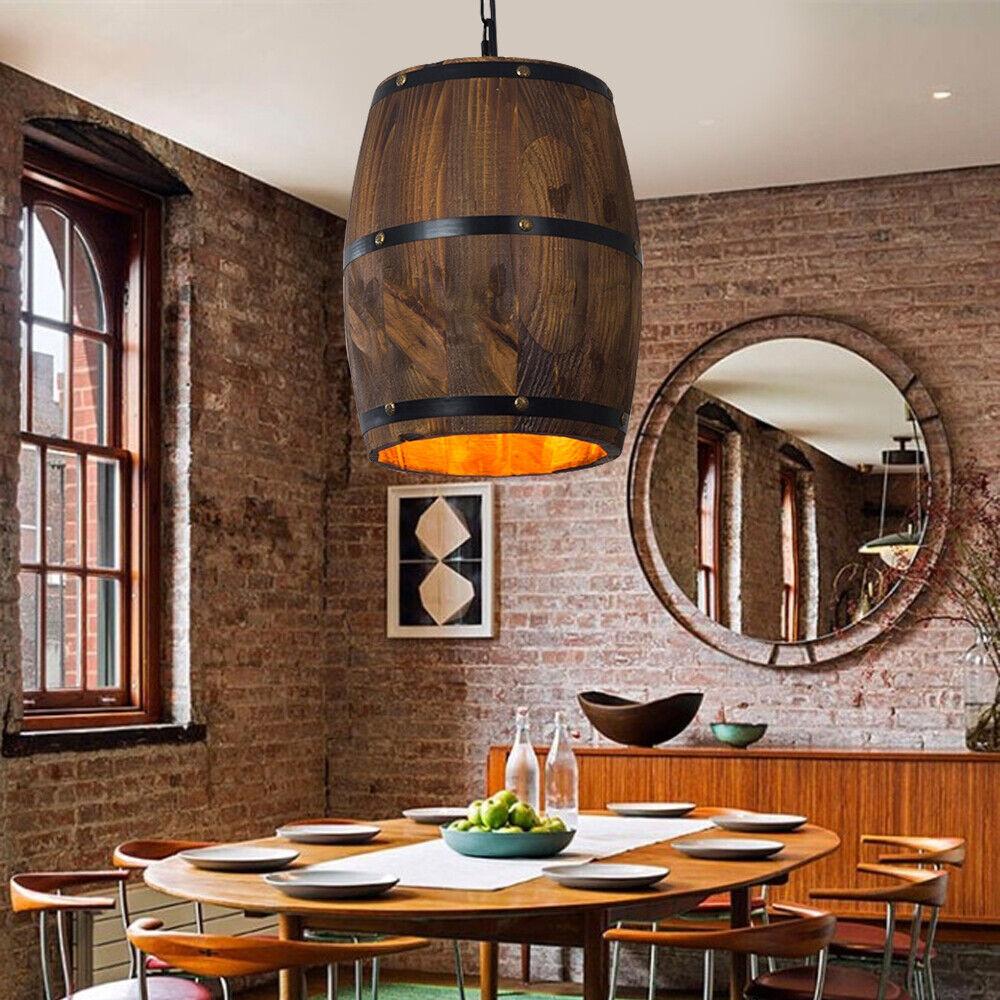 Wine Barrel Hanging Pendant Light Fixture
