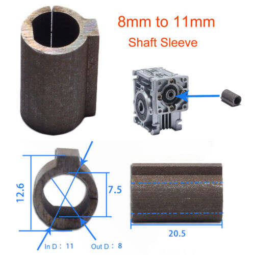 1pc Worm Gear Reducer Shaft Sleeve 6.35 mm Shaft Stepper Motor to 11mm Bore a
