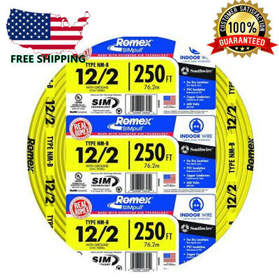 Southwire Building Wire 250 Ft. Yellow 122 Solid Romex Simpull Cu Nm-b Wg
