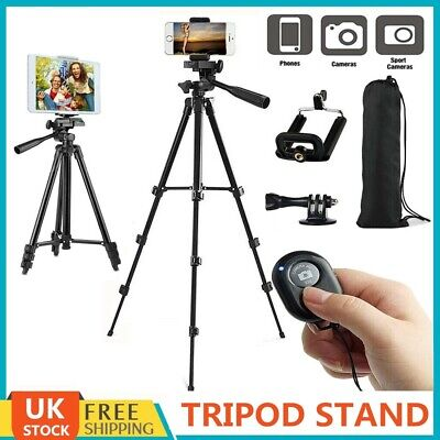 Universal Tripod Stand Telescopic Camera Phone Holder For iPhone Samsung Sony UK