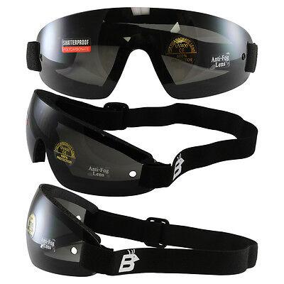 2 PAIR OF Birdz Wing Skydive Sky Diving Goggles Smoked Lens UV400