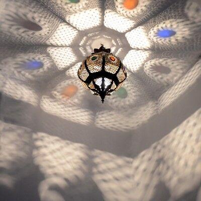 Orientalische Lampe Arabische Leuchte Marokkanische Hängeleuchte Orient KHKK_B
