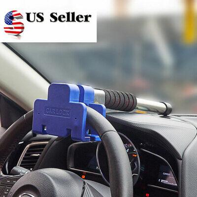 Car Truck SUV Auto Aluminum Alloy Steel Steering Wheel Lock Anti Theft Security