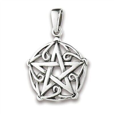 Sterling Silver CELTIC Knotwork Pentagram Pendant Charm Jewelry 925