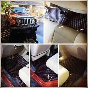 jeep wrangler leather floor mats (all seasons).