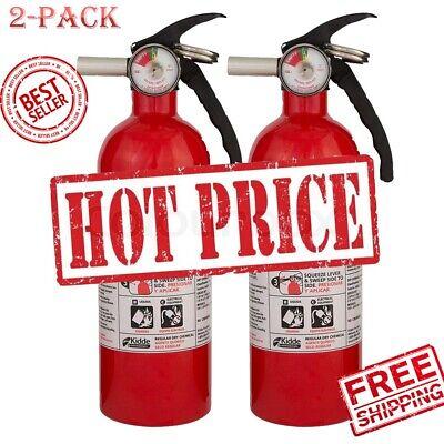 2 Pack Kidde 5 Bc Dry Chemical Fire Extinguisher Emergency Home Car Garage